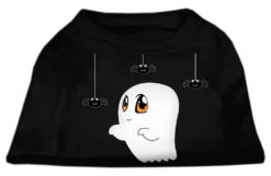 Ghost Spiders Dog Halloween T-Shirt Halloween Black