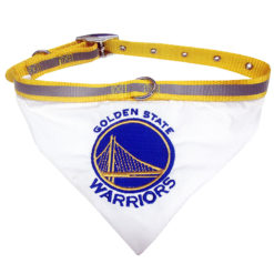 Golden State Warriors Dog Bandana and Collar