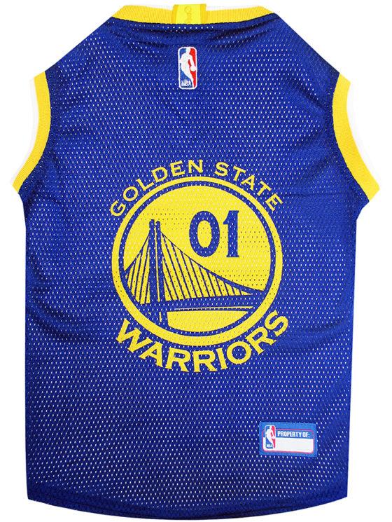 Golden State Warriors NBA Dog Jersey