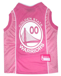 Golden State Warriors Pink NBA Dog Jersey