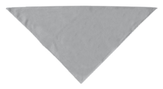 Gray plain dog bandana