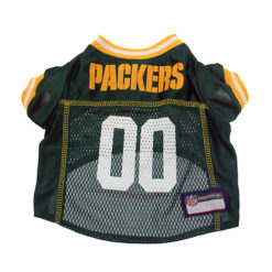 Green Bay Packers NFL dog jersey back