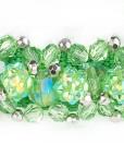Green Beeded Dog Collar Fireball