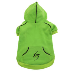 Green Sport Dog Hoodie back