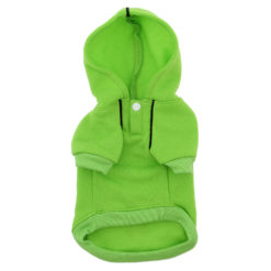 Green Sport Dog Hoodie front