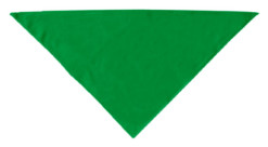 Green plain dog bandana