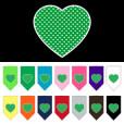 Green polka dot heart dog bandana