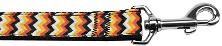 Halloween chevron pattern nylon dog leash