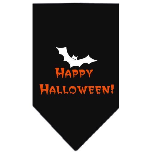Happy Halloween bat dog bandana black