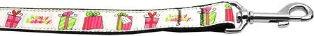 Happy Holidays Nylon Dog Leash with Gift Boxes