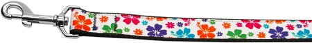 Hawaiian Habiscus Colorful Dog Leash