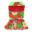 Hawaiian Red Hibiscus Dog Dress front