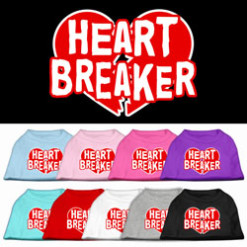 Heartbreaker dog t-shirt sleeveless multi-color