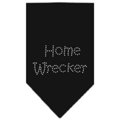 Home wrecker rhinestone dog bandana black