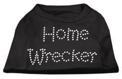 Home wrecker rhinestones dog t-shirt black