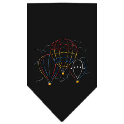 Hot Air Balloons rhinestone dog bandana black