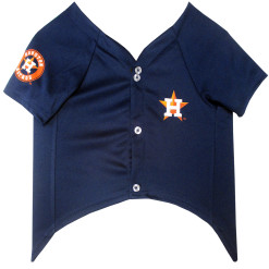 Houston Astros MLB dog jersey front
