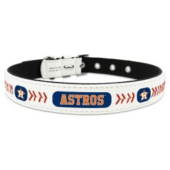 Houston Astros leather dog collar