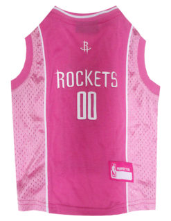 Houston Rockets Pink NBA Dog Jersey
