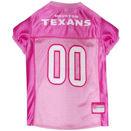 Houston Texans Pink NFL Dog Jersye