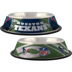 Houston Texans stainless NFL dog bowl