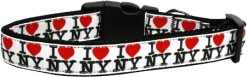 I Heart New York Dog Collar Adjustable