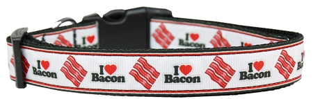 I Love Bacon Adjustable Dog Collar