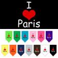 I Love Paris dog bandana