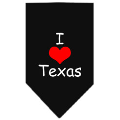 I Love Texas dog bandana black