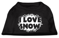 I Love snow dog t-shirt sleeveless black