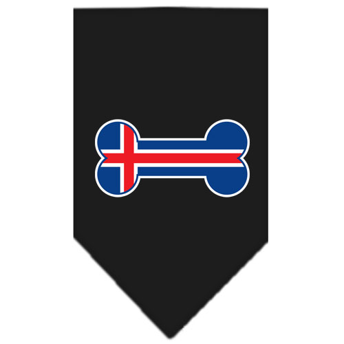 Iceland flag bone bandana black