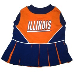 Illininois Fighting Illini dog cheerleader dress
