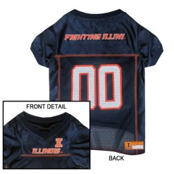 Illininois Fighting Illini dog jersey