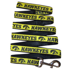 Iowa Hawkeyes NCAA nylon dog leash