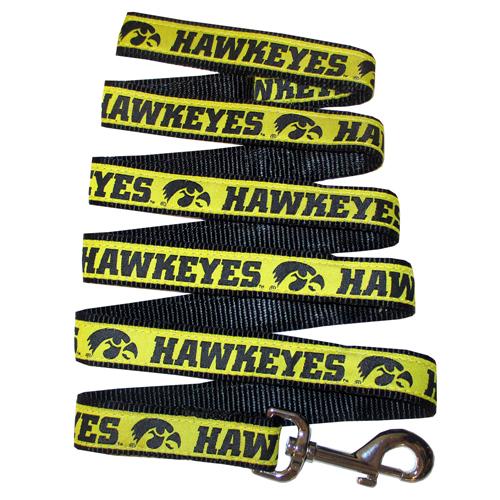 Iowa Hawkeyes NCAA nylon dog leash