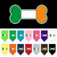 Ireland dog flag bone bandana