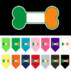 Ireland dog flag bone bandana