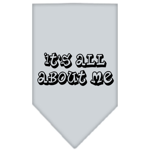 It's All About Me dog bandana gray