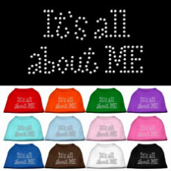 It's All About Me rhinestones dog t-shirt colors
