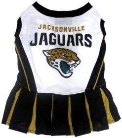 Jacksonville Jaguars NFL dog cheerleader dress