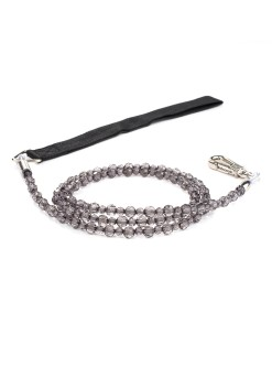 Jewel Black Diamond Beaded Dog Leash