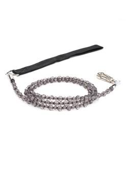 Jewel Black Diamond Beaded Dog Leash
