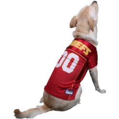 Kansas City Chiefs NFL dog jersey on pet