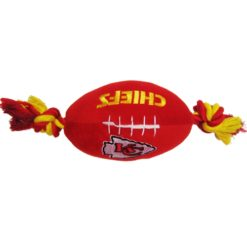 Kansas City Chiefs NFL football plush dog toy