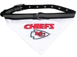 Kansas City Chiefs dog bandana and collar
