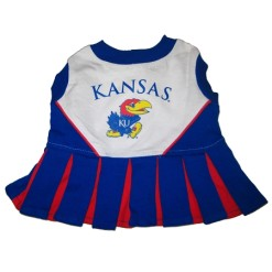Kansas Jawhawks cheerleader dog dress