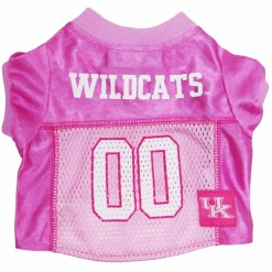 Kentucky Wildcats pink dog jersey