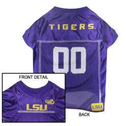 LSU Tigers mesh dog jersey
