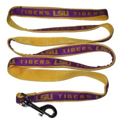 LSU Tigers nylon dog leash
