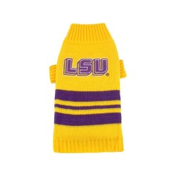 LSU Tigers turtleneck dog sweater